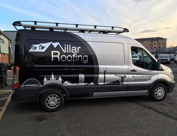 Millar Roofing Van